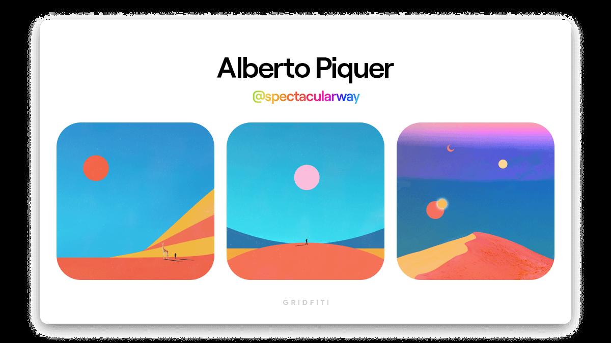 Alberto Piquer: Minimalist Colorful NFT Art
