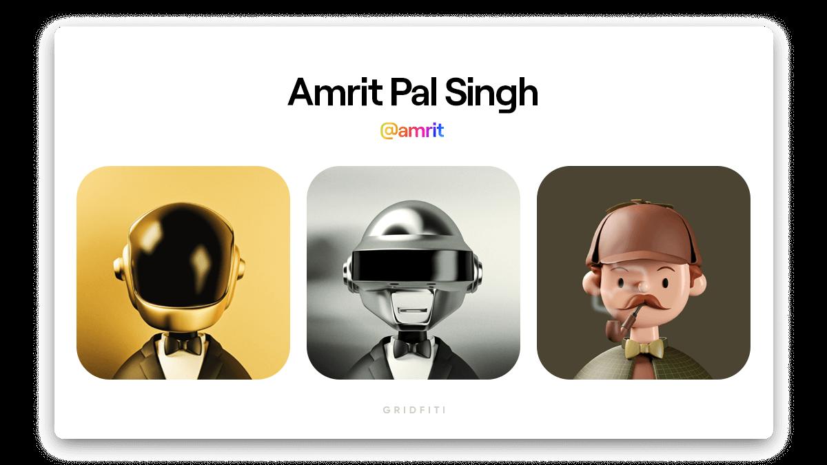 Amrit Pal Singh: Toy Faces NFT Art