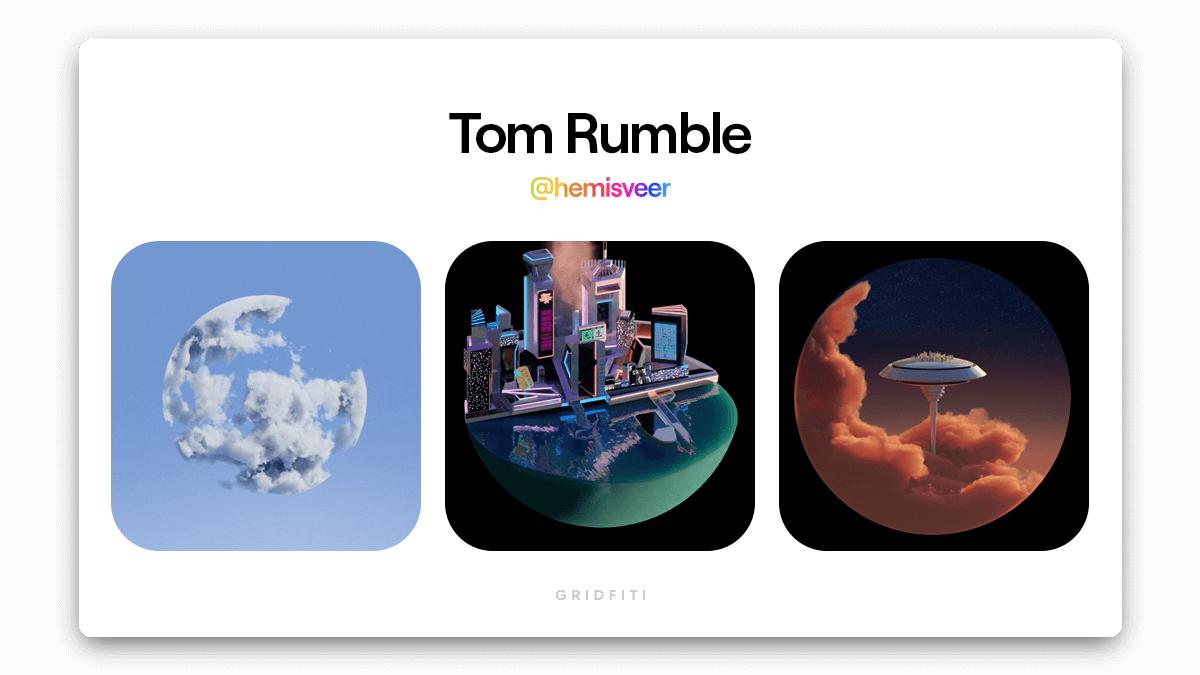 Tom Rumble: Spherical NFT Art
