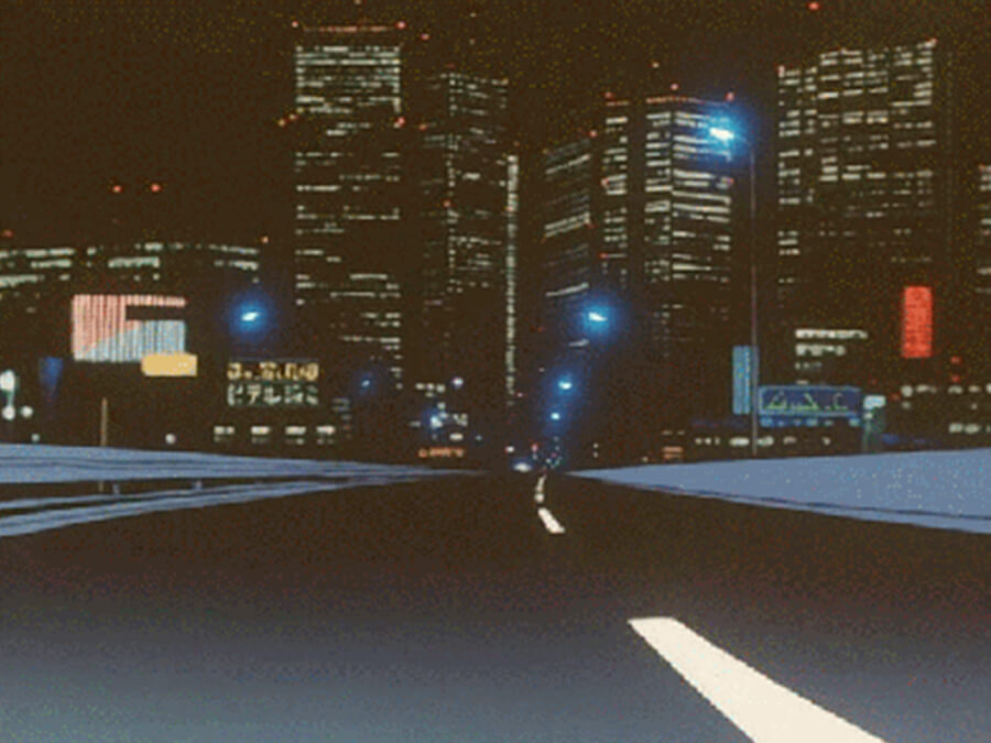 Late Night Drive - Anime Car Looping GIF