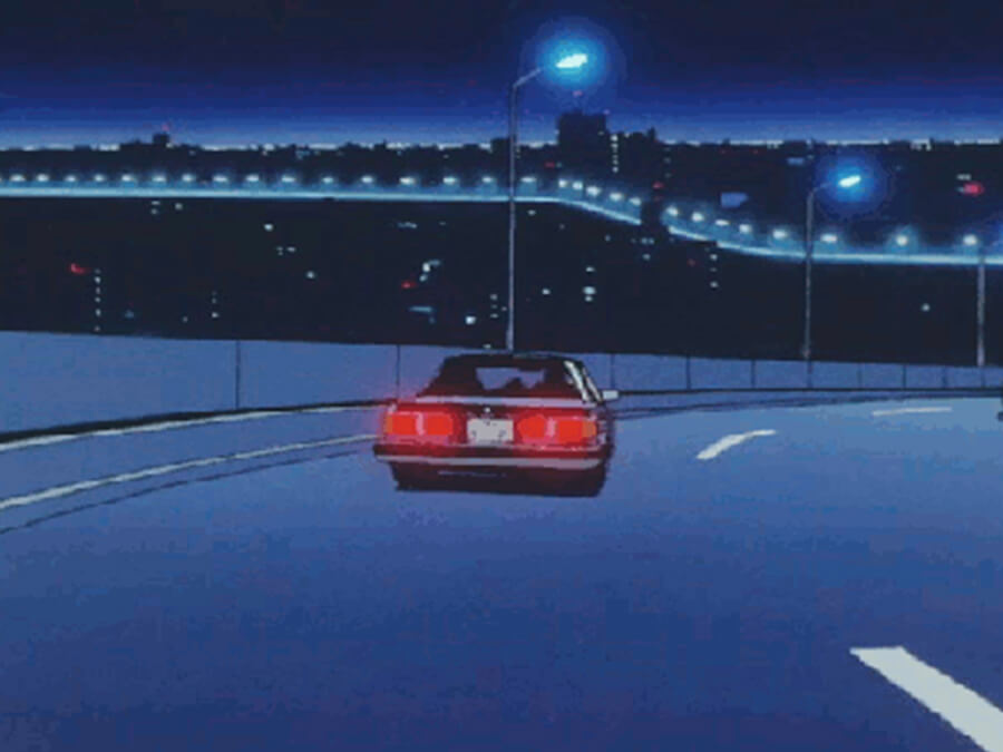 Night Driving Loop - Anime Lofi Car