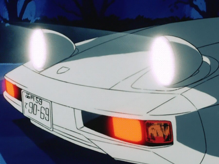 Porsche 928 Activated – Anime Headlights GIF
