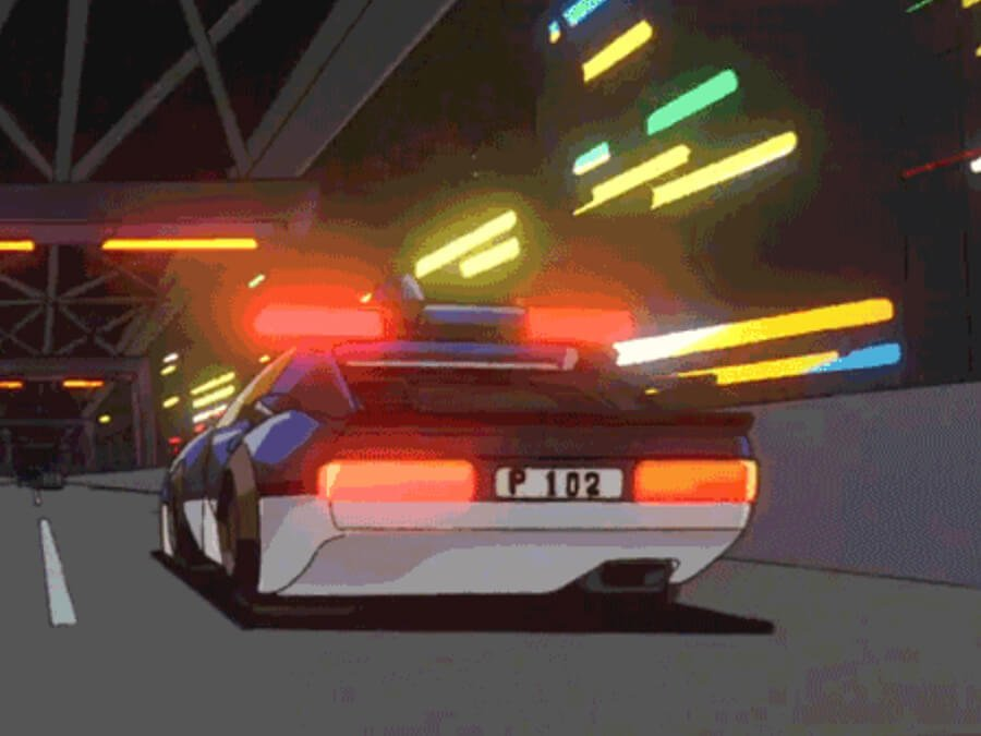 Anime Police Car Lights & Sirens