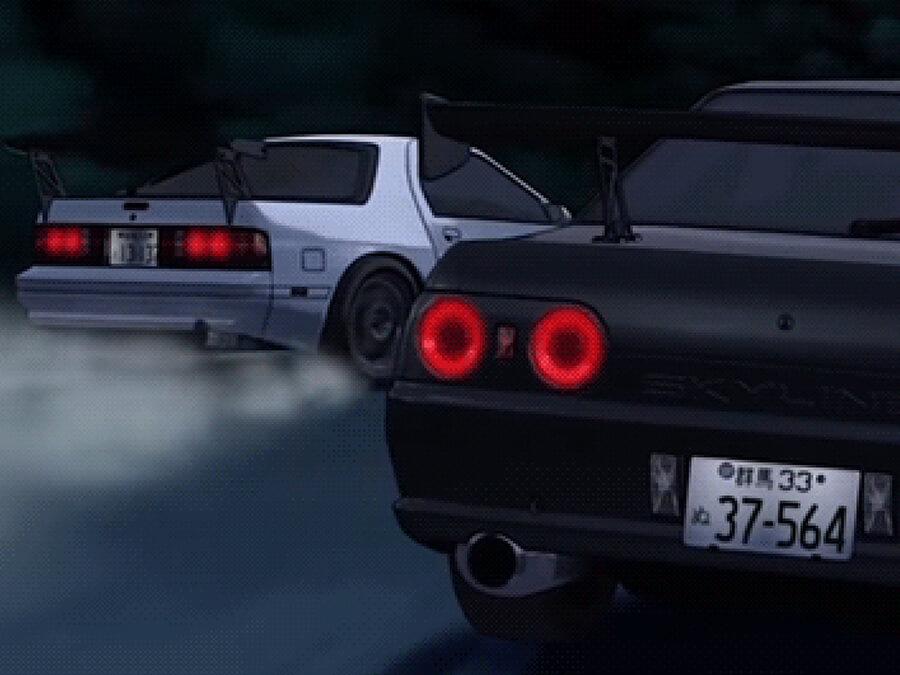 Anime Skyline GT-R vs. Mazda RX-7 FC3S