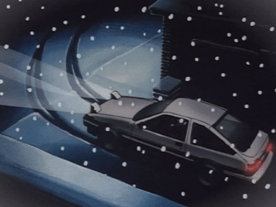 Snowy Anime Night - Toyota AE85