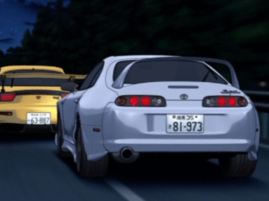 Toyota Supra Chasing a Mazda RX-7