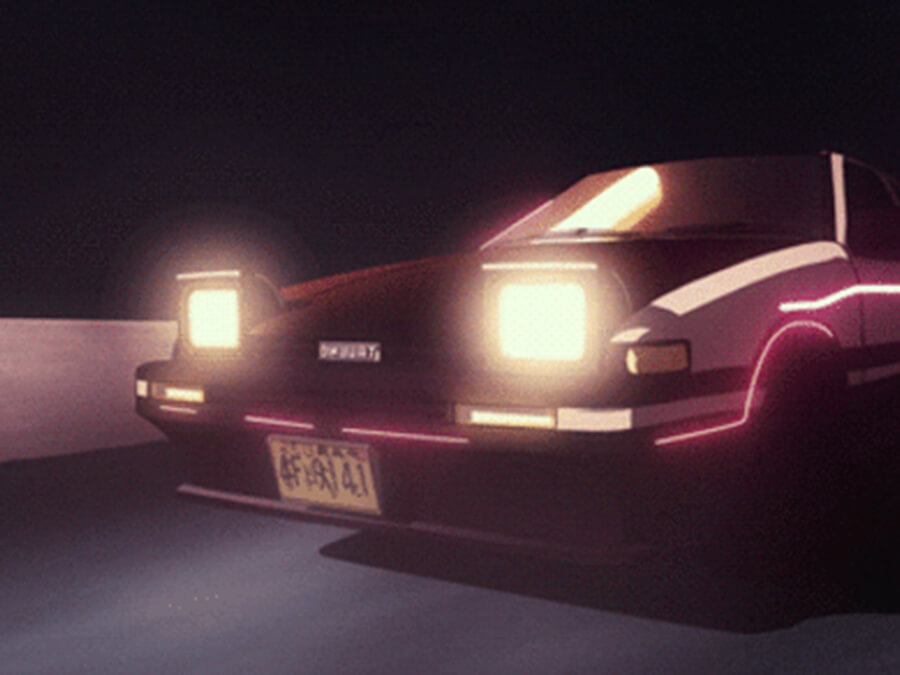 Toyota AE86 Anime Car Aesthetic