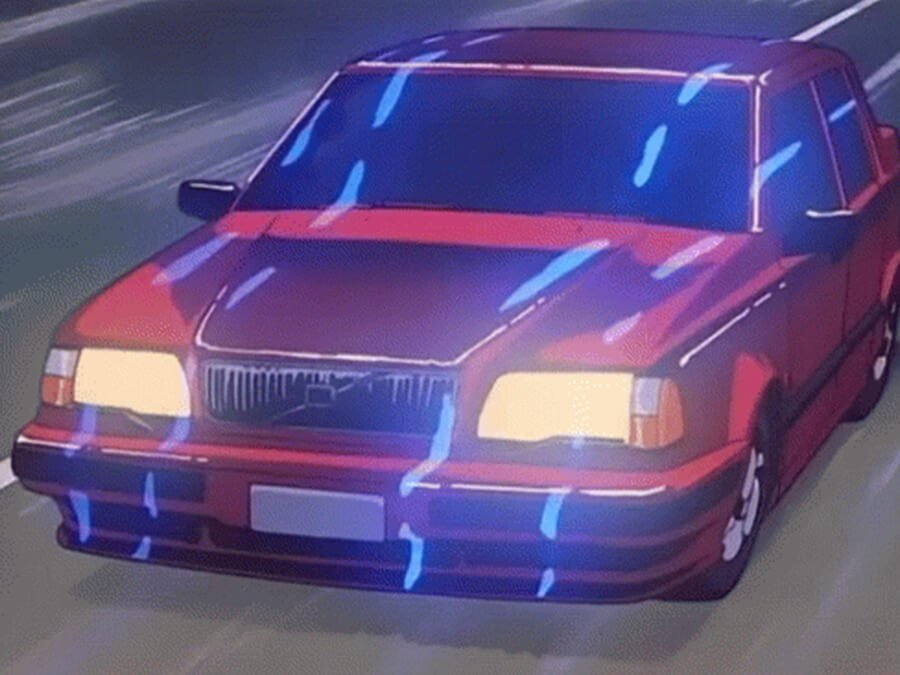 Vaporwave Retro Anime Car – Infinite Car Loop