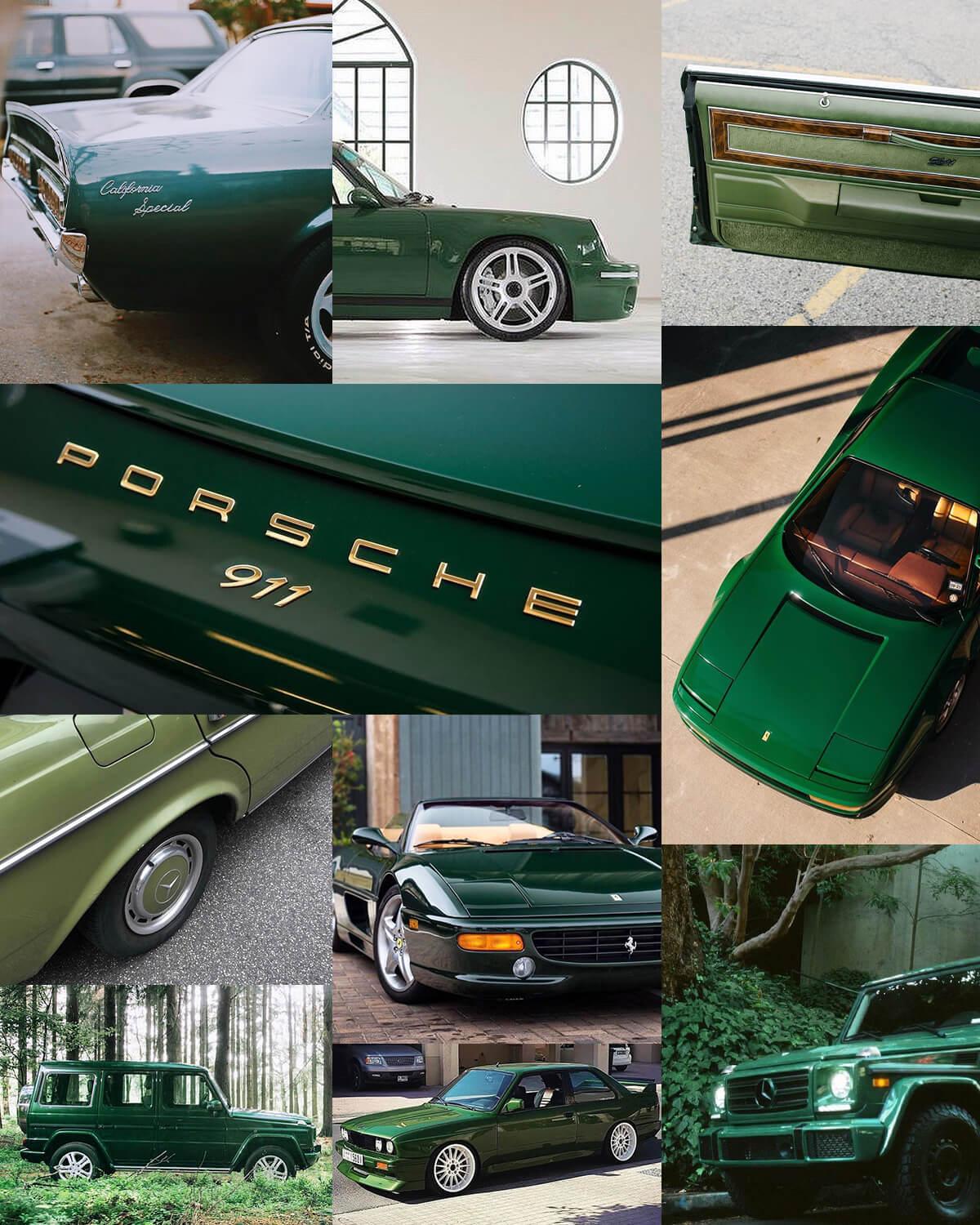 Green Aesthetic Cars
