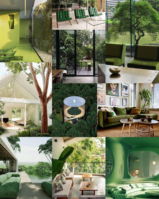 Aesthetic Green Home Photos