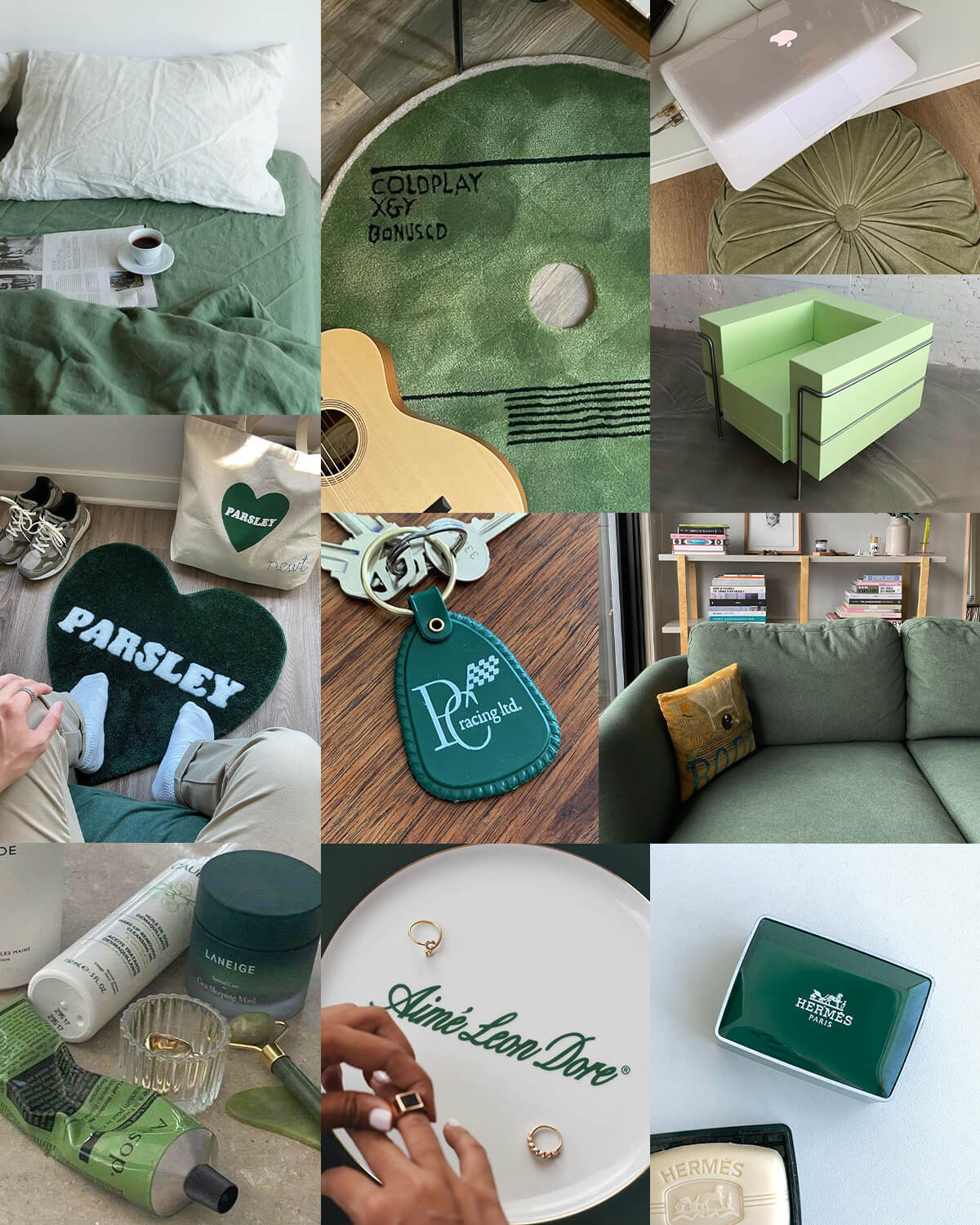 Aesthetic Green Lifestyle Moodboard