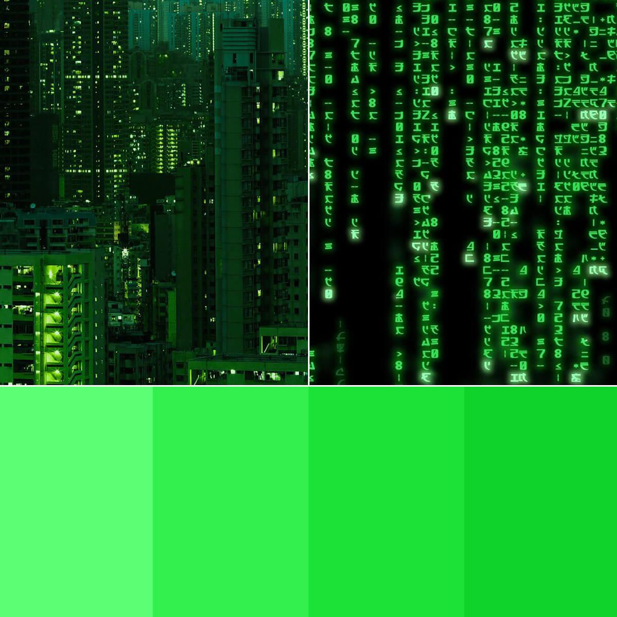 Neon Green Color Palette