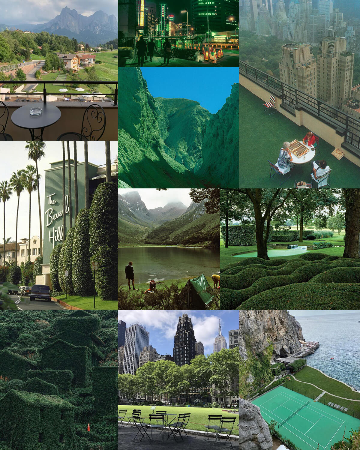Aesthetic Green Travel & Places