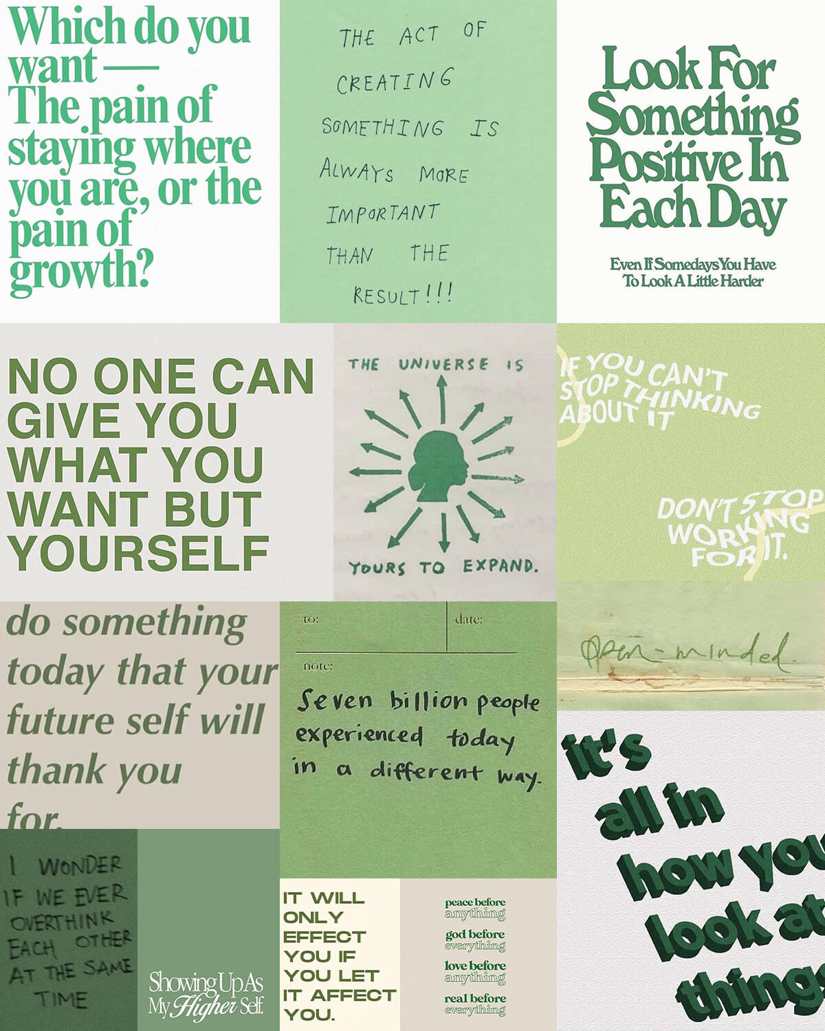 Green Aesthetic Quotes