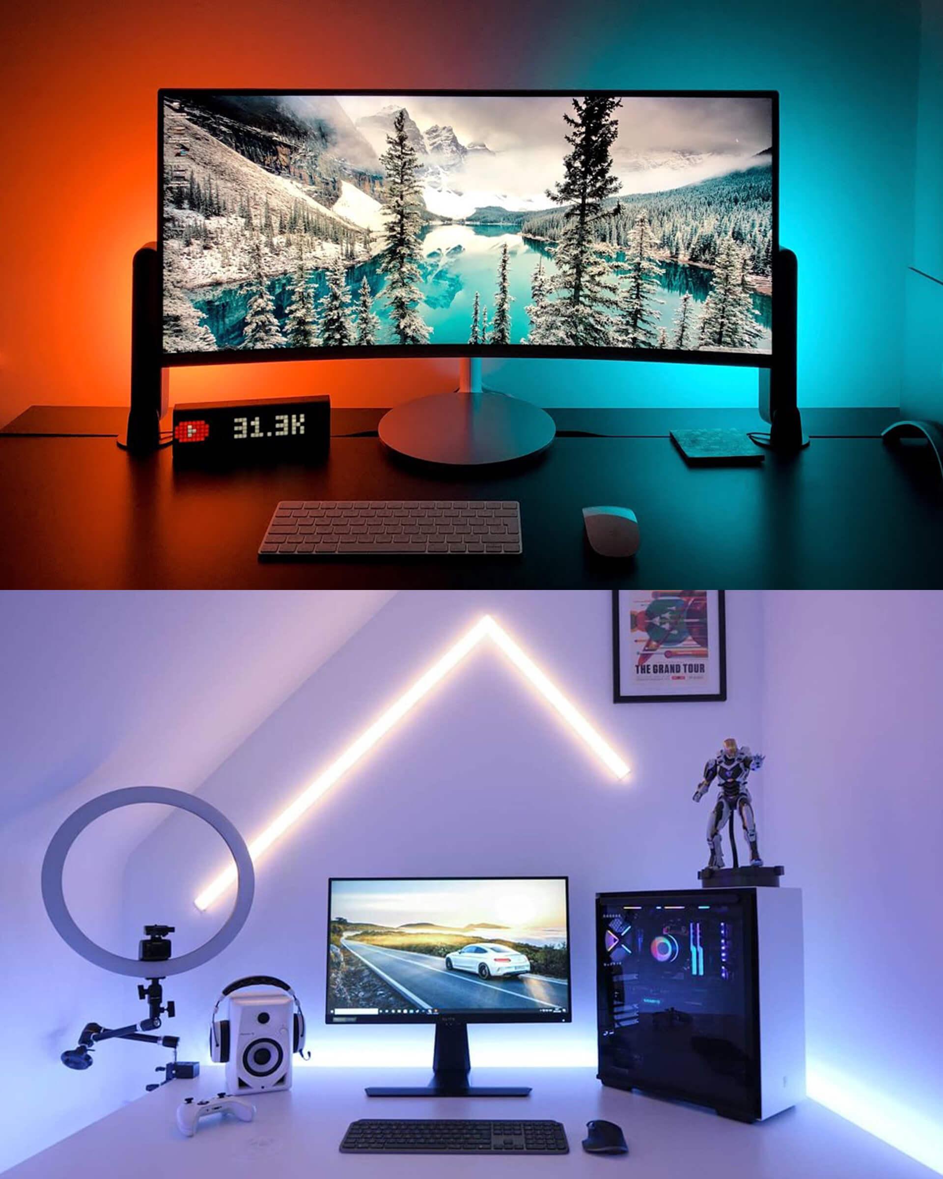 Color Light Bars & Light Beams