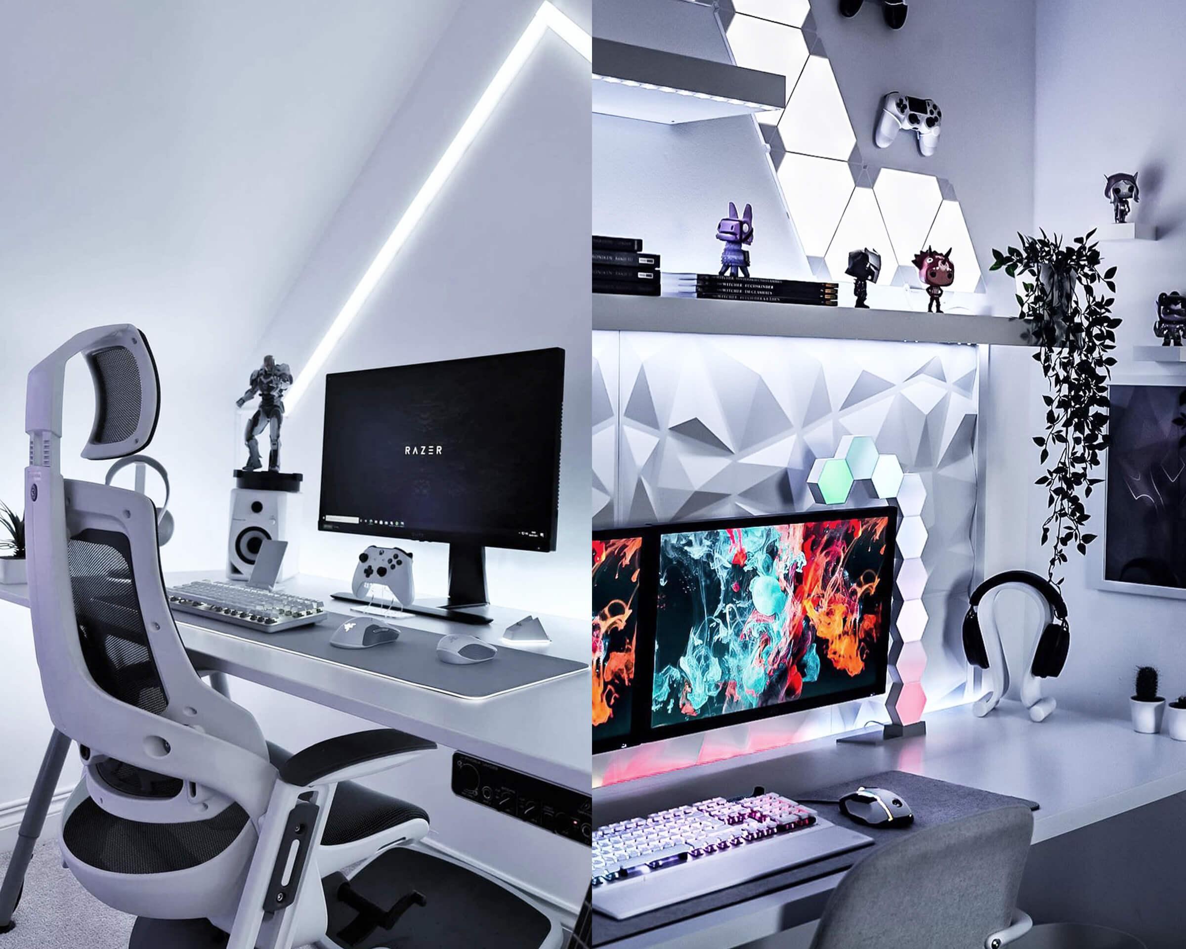 All-White LED Desk Backlighting