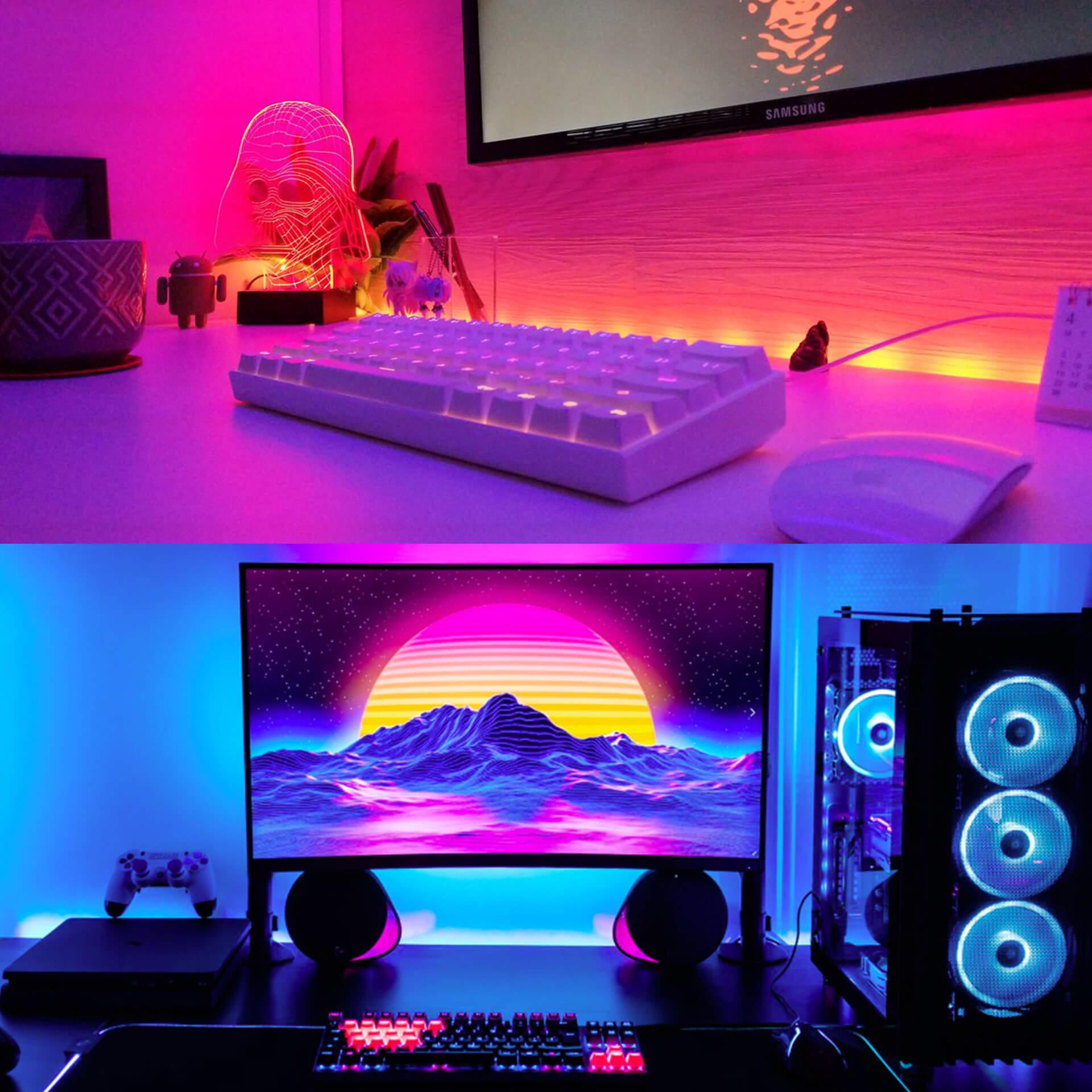 Outrun Aesthetic LED Desk Backlight