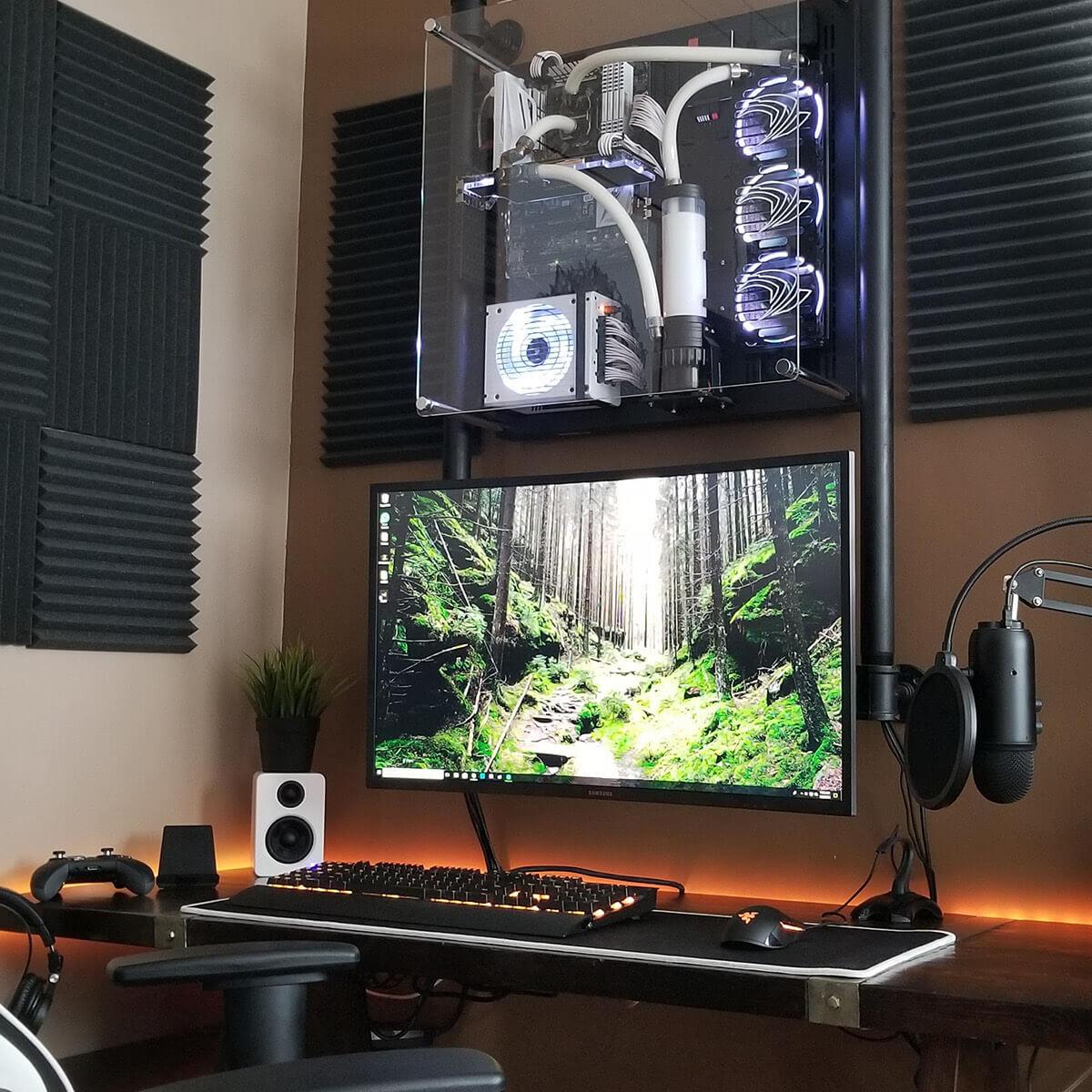 Wall Mounted PC Gaming Setup