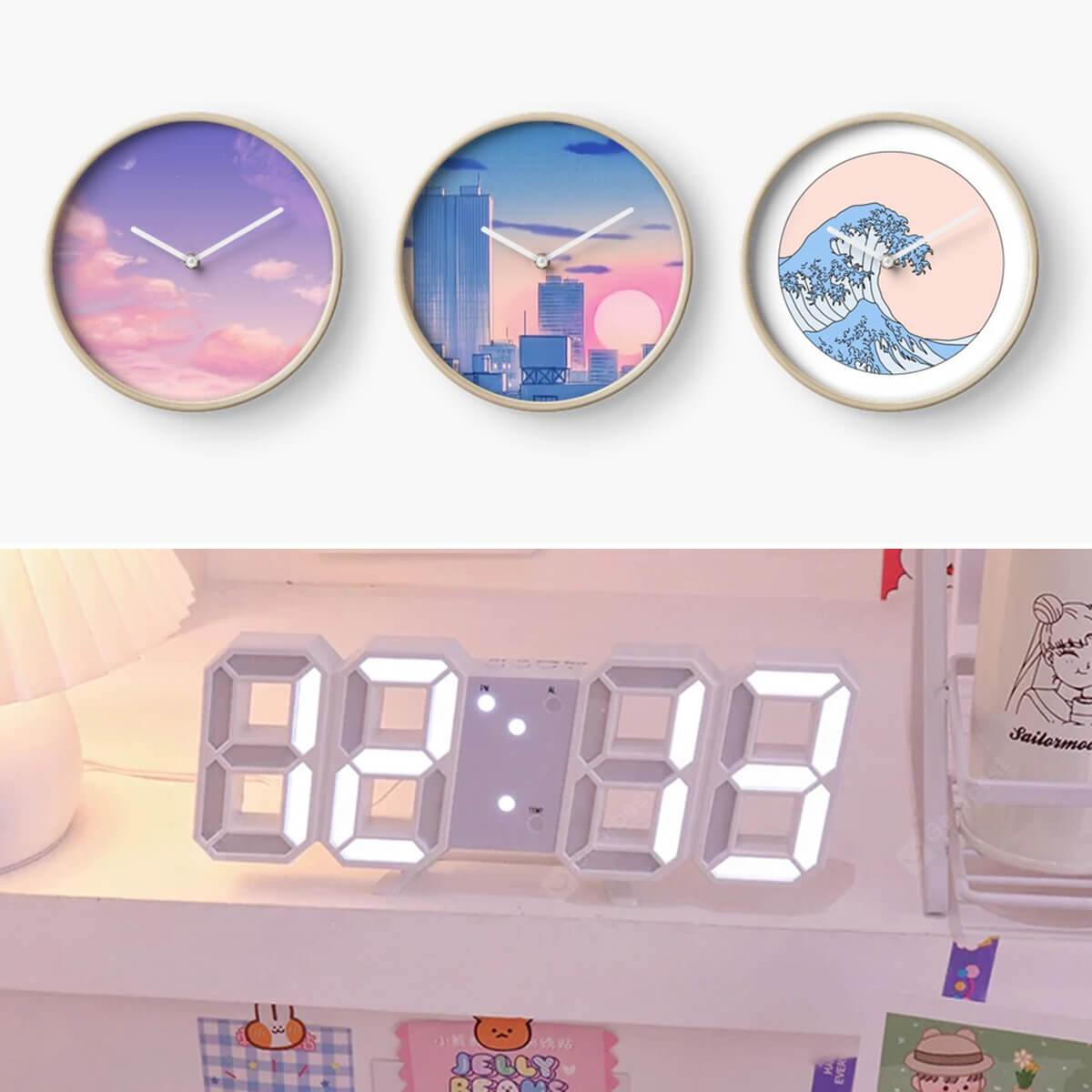 Aesthetic Desk Clocks