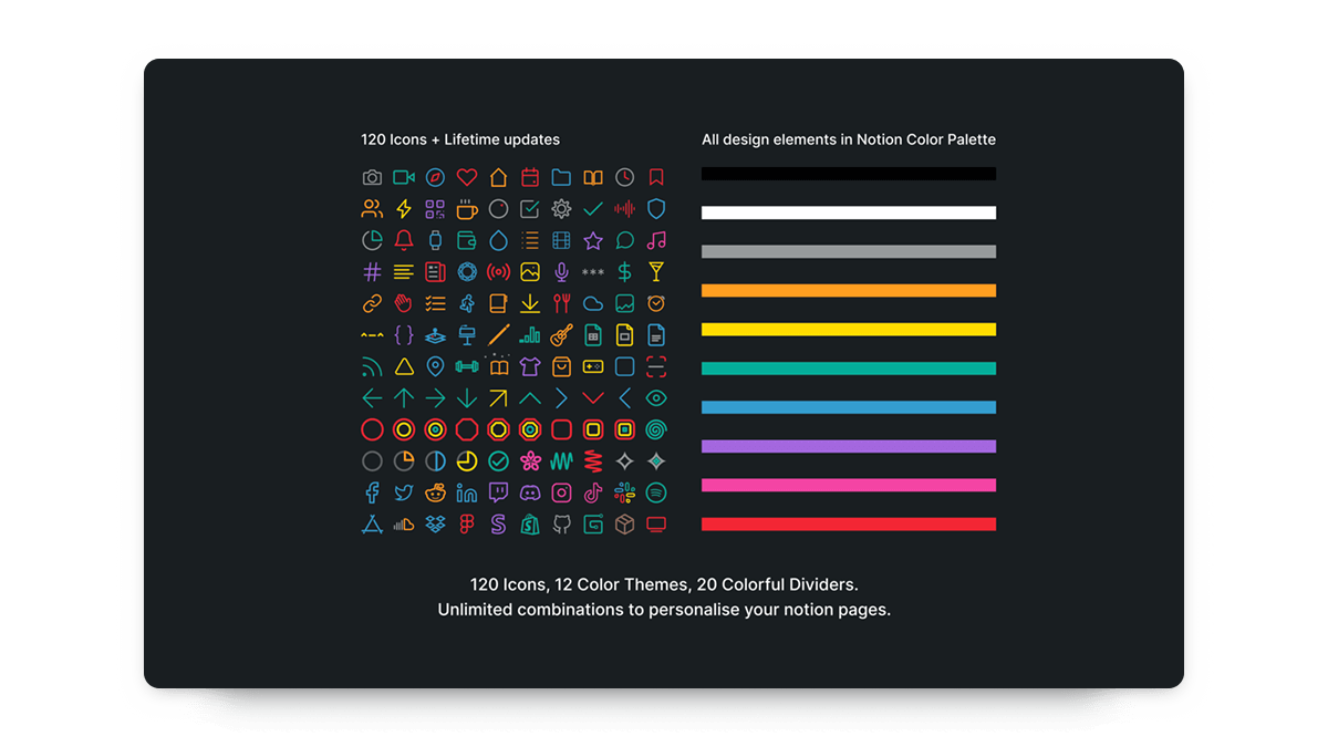Minimal Colorful Notion Icons