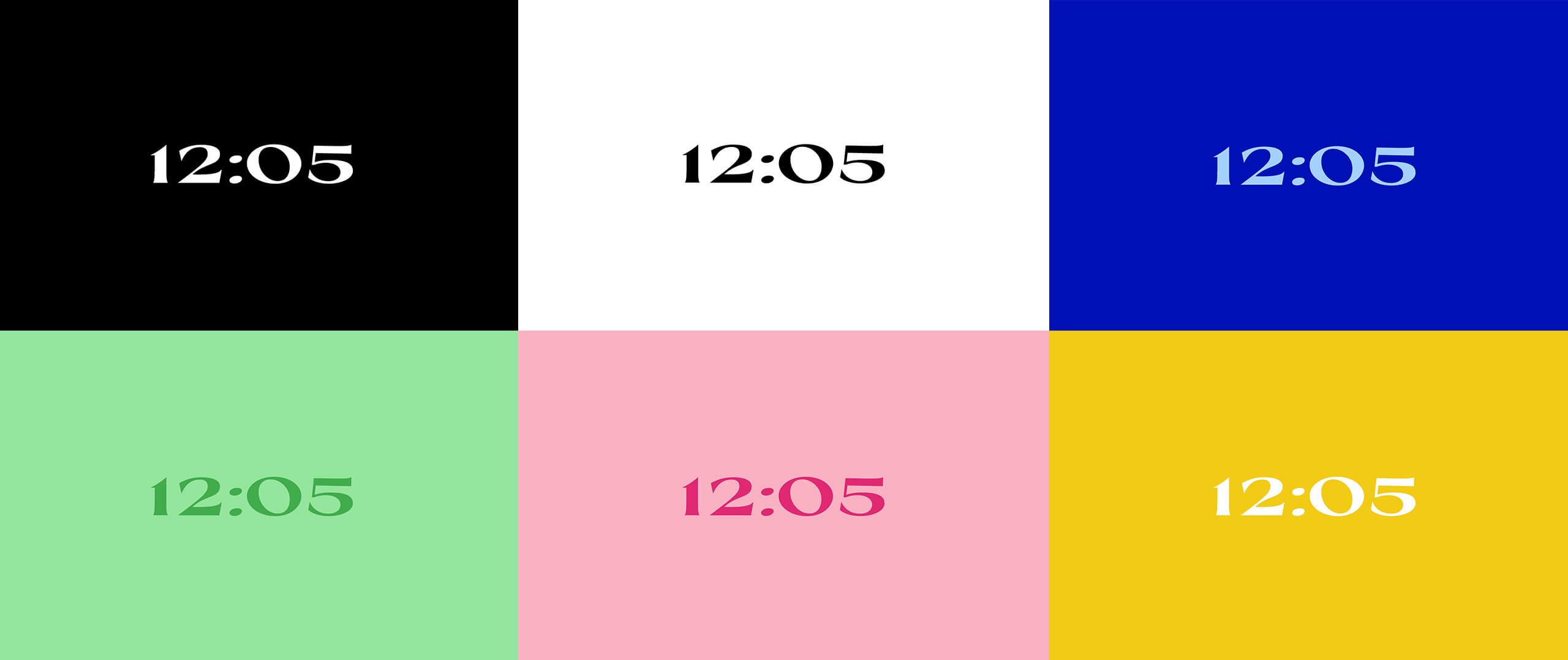 Serif Clock Screensaver