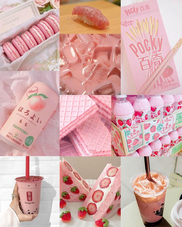 Pink Aesthetic Food & Drink