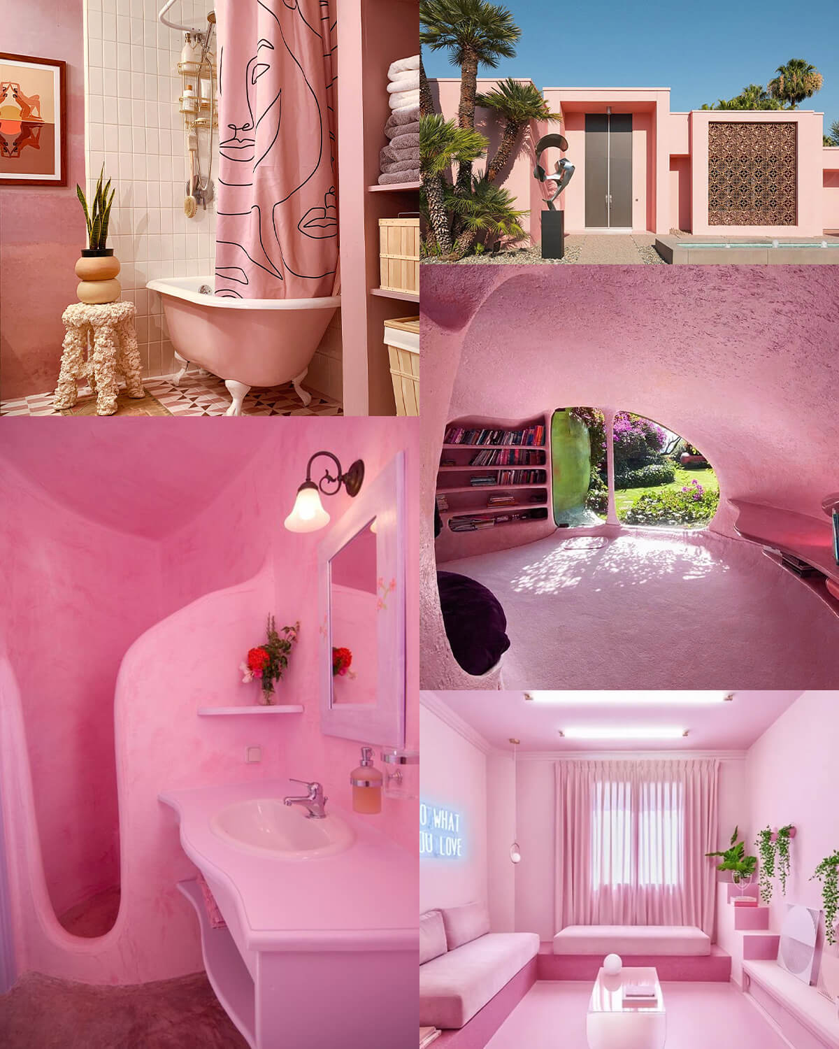 Aesthetic Pink Homes & Interiors