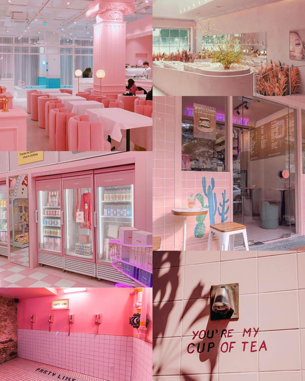 Pink Aesthetic Restaurants, Cafés, Hotels