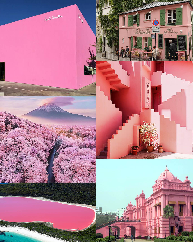 Aesthetic Pink Travel Destinations