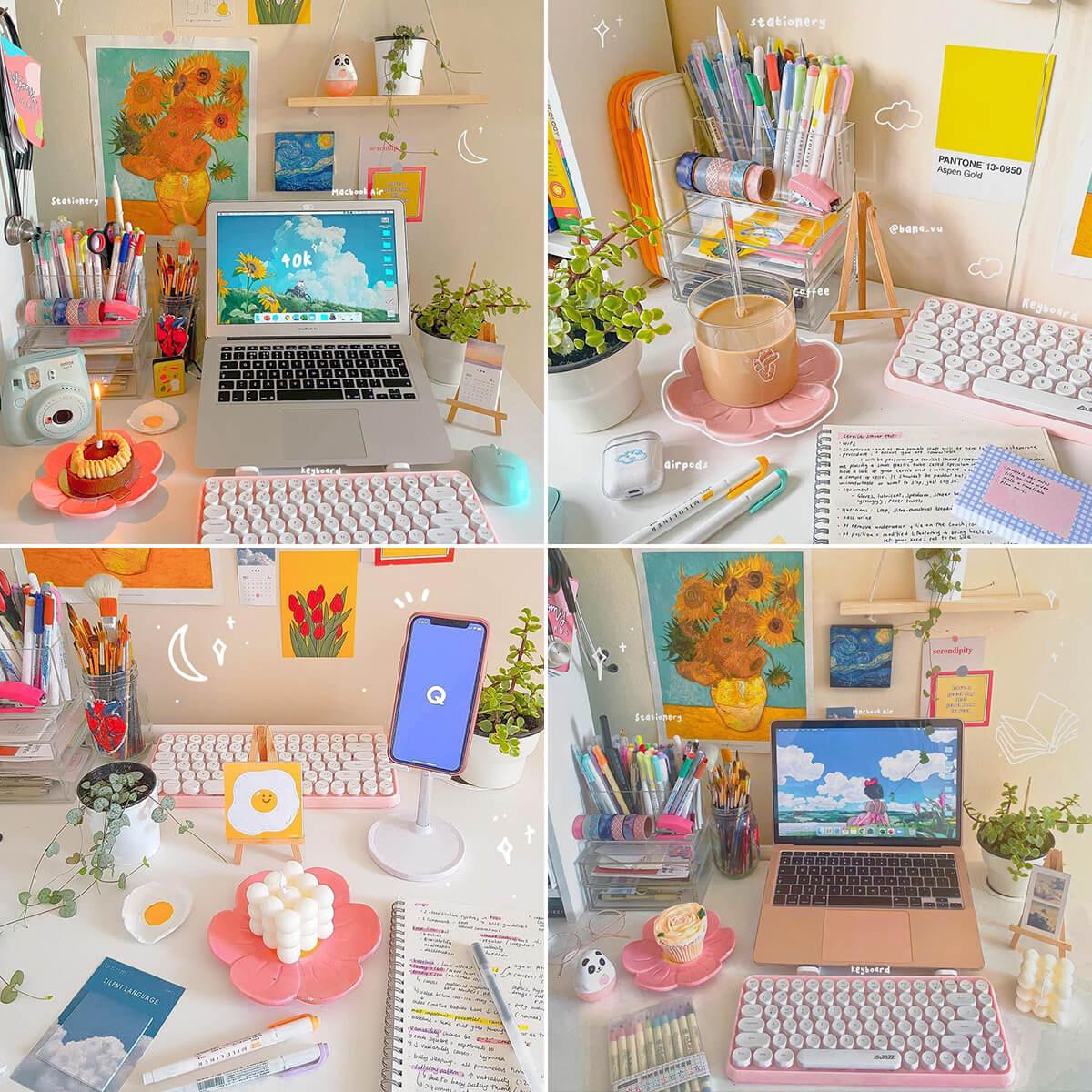 Aesthetic Study Desk Instagram