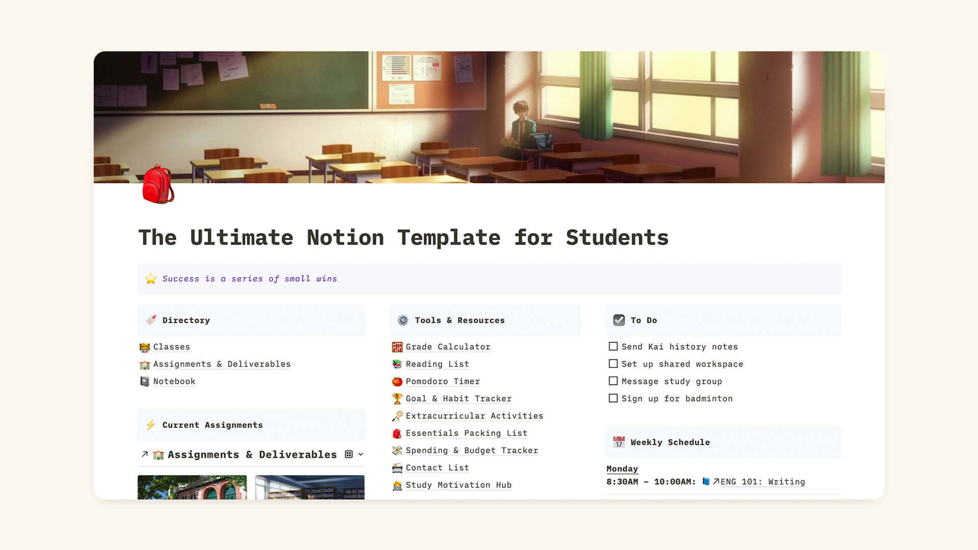 Notion Student Template