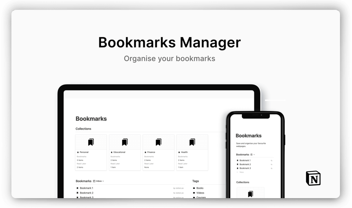Bookmarks Link Manager for Notion