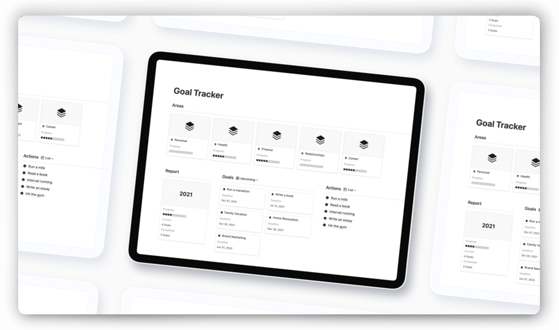 Notion Goal Tracker Template