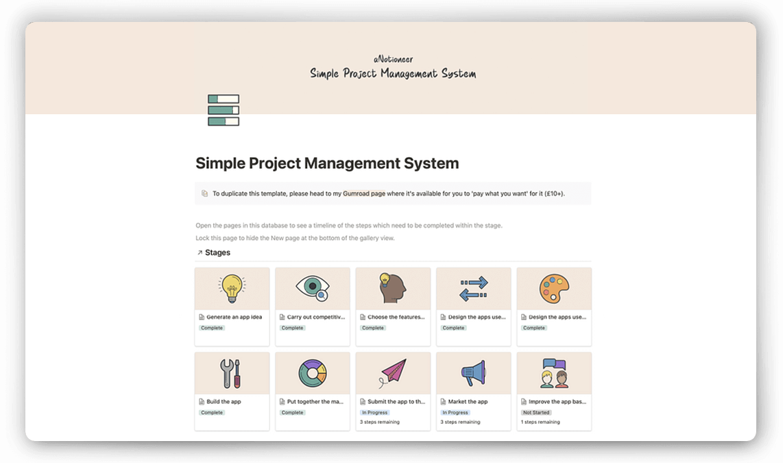 Notion Project Management Template