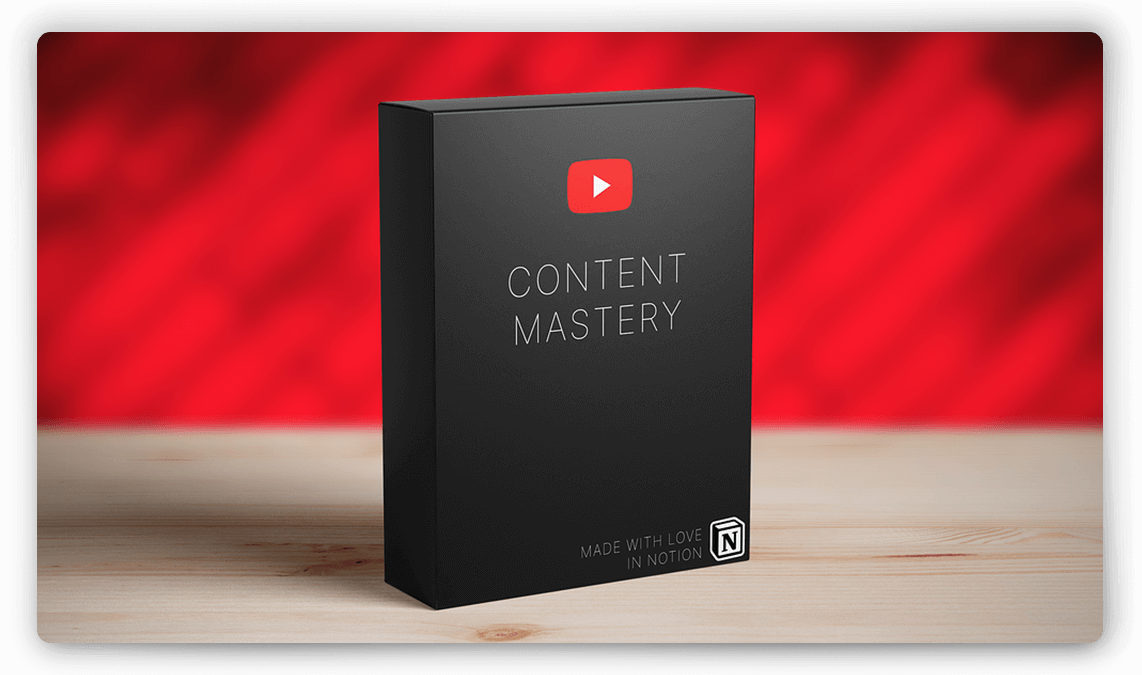YouTube Video Planning Template for Notion