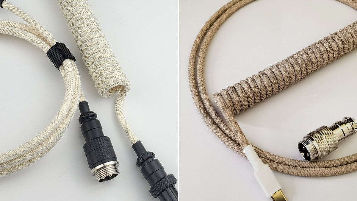 Beige & Brown Coiled USB-C Cables