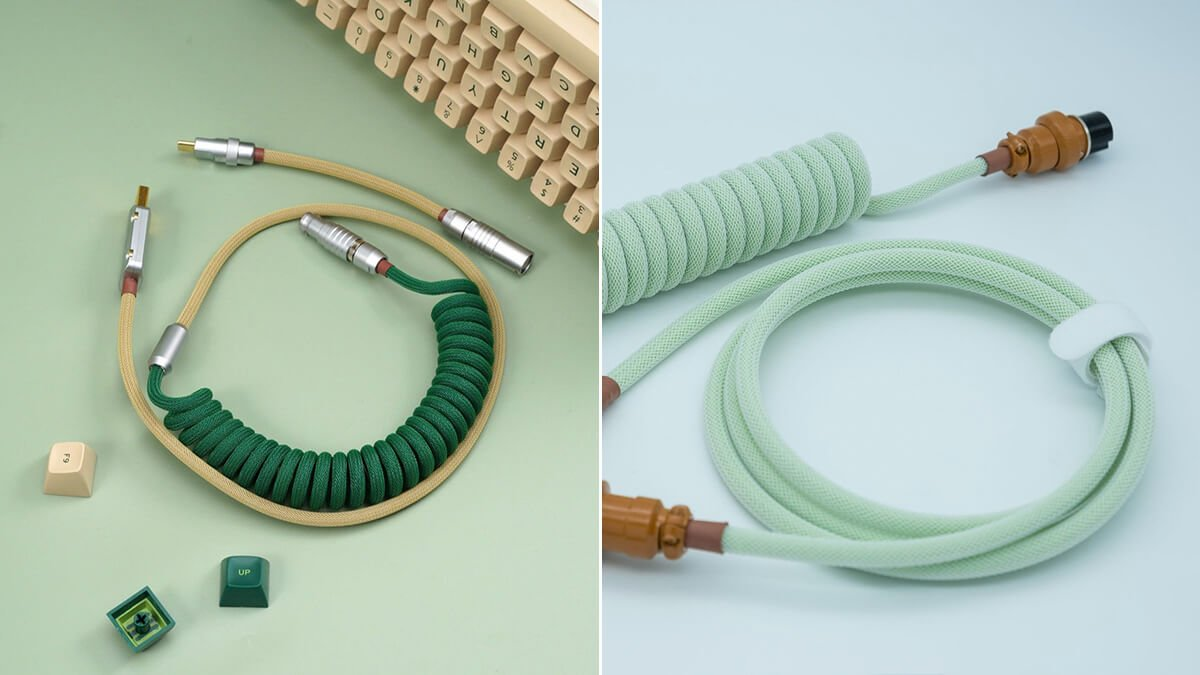 Green Coiled USB-C Cables