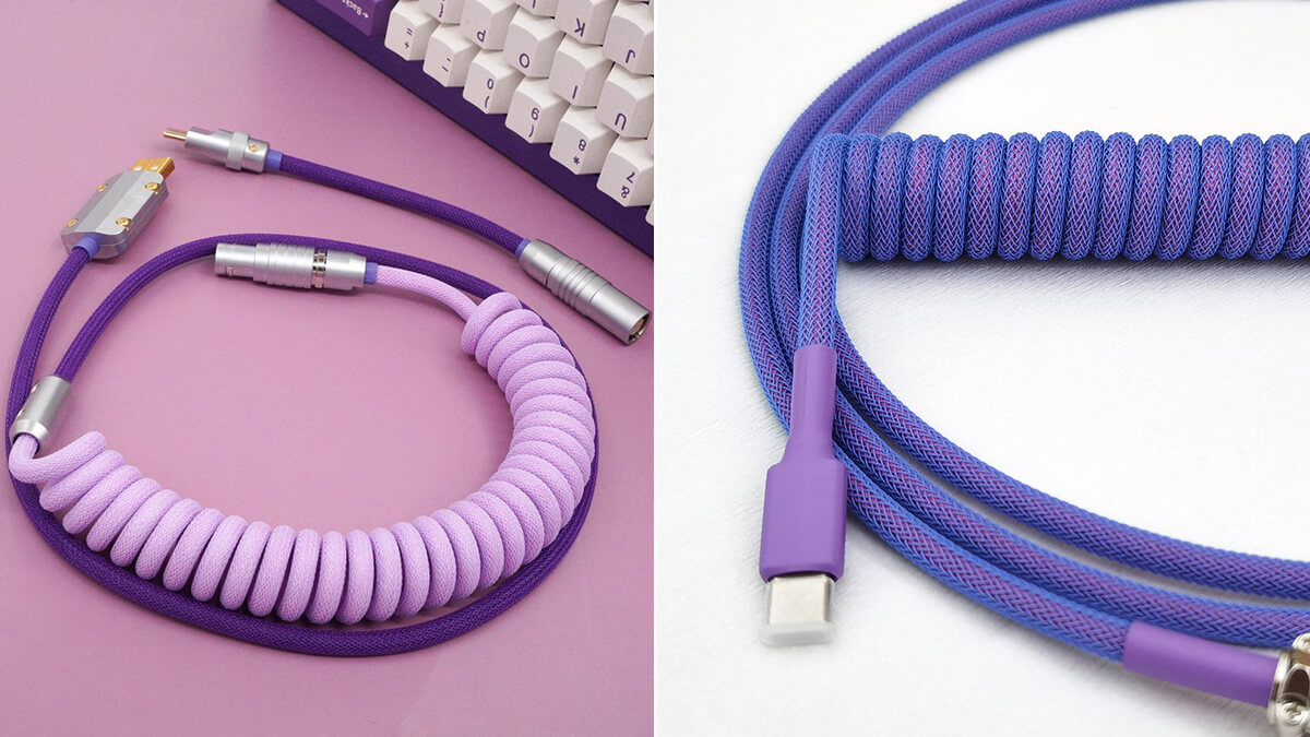 Purple Coiled USB-C Cables