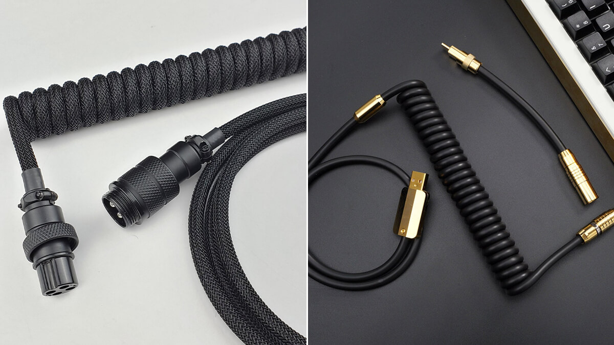 Black Coiled USB-C Cables