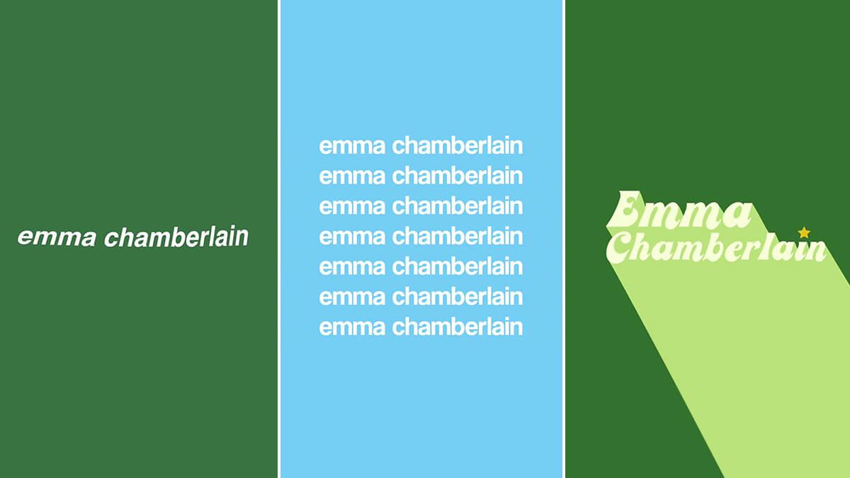 Emma Chamberlain Aesthetic Font & Colors