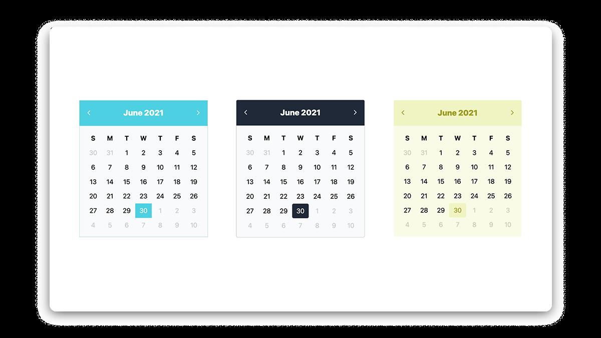 Aesthetic Calendar Widget for Notion