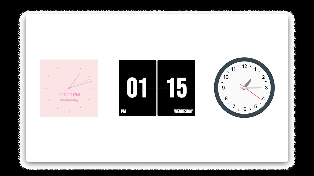 Aesthetic Notion Clock Widget