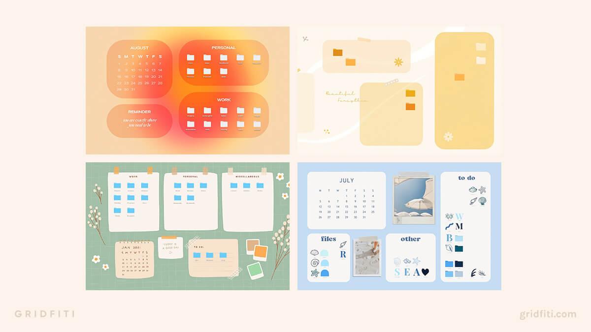 Aesthetic Desktop Organizer Wallpapers