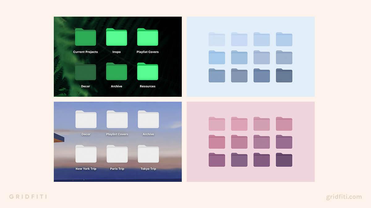 Aesthetic Desktop Folder Icons