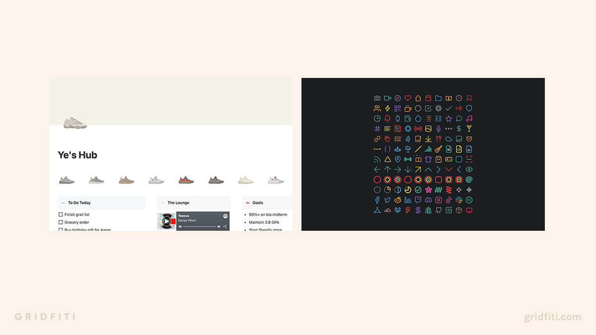 Notion Icons Aesthetic