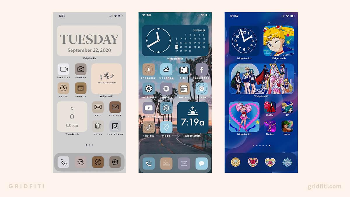 Cute iPhone Widgets