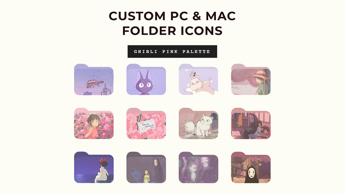 Studio Ghibli Anime Folder Icons