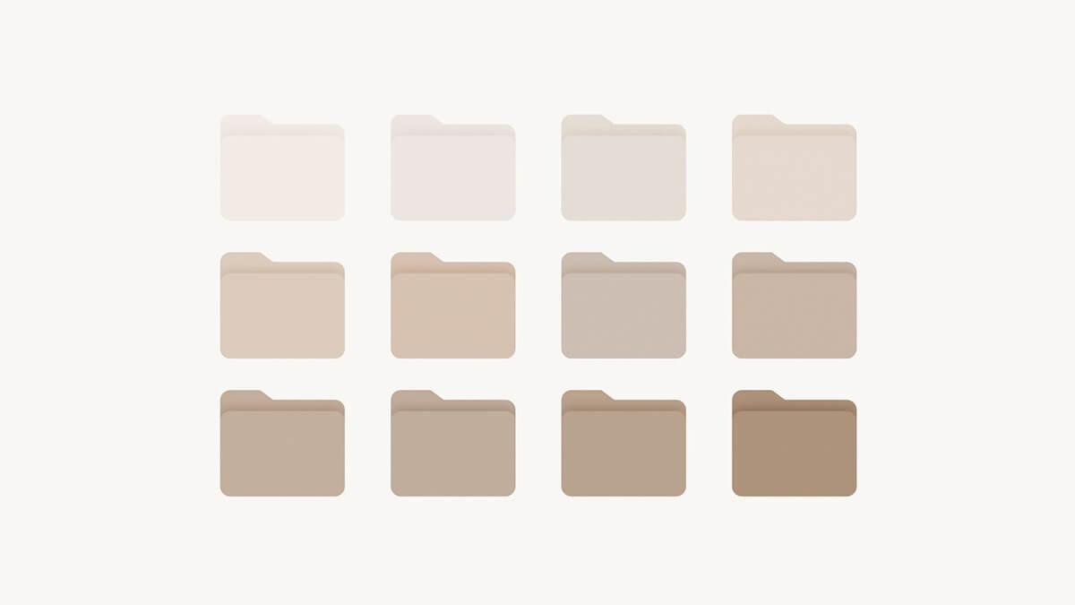 Neutral & Beige Folder Icons