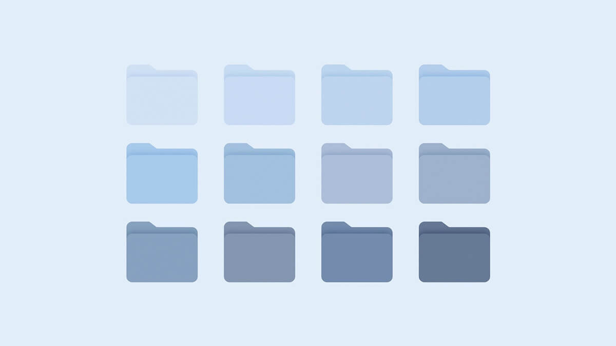 Aesthetic Blue Folder Icons