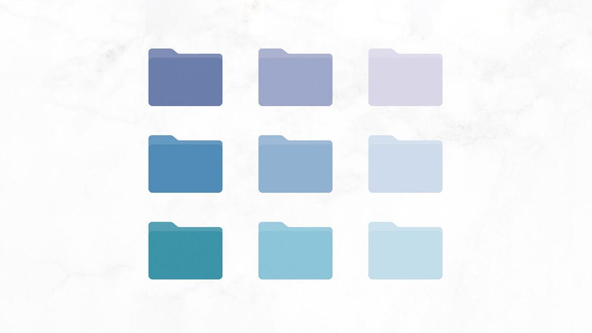 Blue & Purple Pastel Lofi Folder Icons